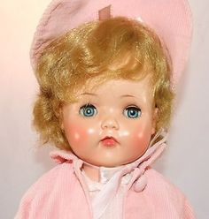 RARE VINTAGE VINYL MADAME ALEXANDER BABY DOLL - BONNIE - FROM 1954- 19 INCHES TALL