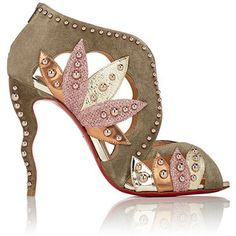Christian Louboutin Women's Venecage Suede & Leather Ankle Booties