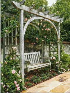 The wooden pergola is a good solution to add beauty to your garden. If you are not ready to spend thousands of dollars for building a cozy pergola then you may devise new strategies of trying out something different so that you can re Small Pergola, Pergola Swing, Wooden Pergola, Pergola Ideas, Diy Pergola, Pergola Kits, Pergola Carport, Pergola Shade, Pergola With Swings