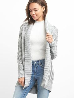 549df36e5d Gap Womens Cable-Knit Cardigan Heather Grey Chunky Knit Cardigan