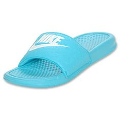 Popular Nike Women39s Comfort Slide Sandals From Finish Line In Blue  Lyst