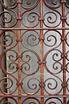 Rusty Gate Ornate Wrought Iron Photography by SCPerkinsPhotography, $45.00