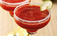 Margarita-Style Coolers - A lively blend of strawberries and lime makes this mock cocktail a refreshing idea for your next summer barbecue.