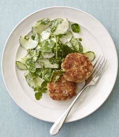 These patties are fabulous alone, but also make for a terrific sandwich when placed on soft rolls or in pita bread. Whichever way you serve them, include the cucumber-watercress salad—it's a creamy and verdant blend that can't be beat. Recipe: Horseradish Salmon Cakes Related: At-Home Fish Fry
