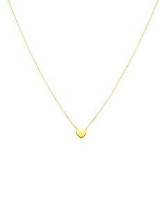 "TOUS18k Gold Mini Heart Pendant Necklace, 16"""