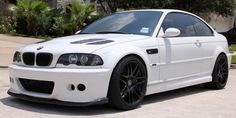 BMW M3 E46 modified with GTR style hood, Forgestar F14 Wheels. Nice Clean look. Credit: Http://www.modbargains.com