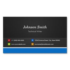 Technical Writer - Professional Customizable Business Cards