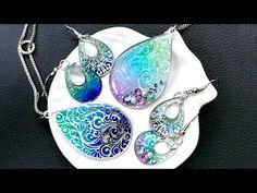 【UVレジン 100均】セリアの透かしプレートを使ってアクセサリーを作ってみました!Watermark plate UVresin - YouTube Diy Resin Crystals, Uv Resin, Resin Art, Resin Jewlery, Polymer Clay Jewelry, Beaded Beads, Resin Tutorial, Fairy Jewelry, Mermaid Necklace