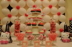 Hello Kitty in Paris Birthday Party Ideas   Photo 1 of 11