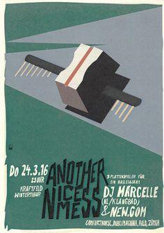 ANOTHER NICE MESS - DJ MARCELLE - KRAFTFELD WINTERTHUR 2016 - ORIG. FLYER