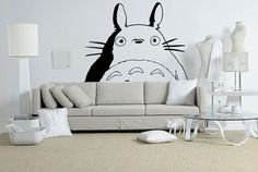 Totoro Wall Art Decal Sticker by MysteriousMan on Etsy