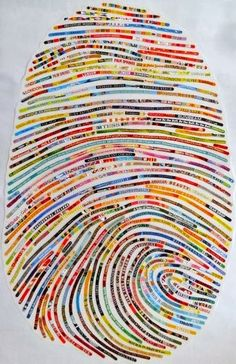 This amazing thumbprint art is the work of Cheryl Sorg of Encinitas, California. At first I thought it was a selvage quilt! I wondered...