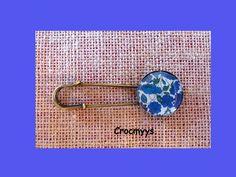 Broche rétro liberty petal bud bleu : Broche par crocmyys