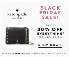 89101037a530 kate spade black friday sale - 30% off EVERYTHING - use code  GIVEJOY