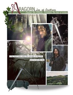 """""""Battle for Tolkien's World - Round 1 : Introduction - Aragorn"""" by savagedamsel ❤ liked on Polyvore featuring art, lotr, middleearth and Aragorn"""