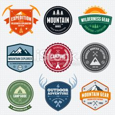 Mountain badges Royalty Free Stock Vector Art Illustration