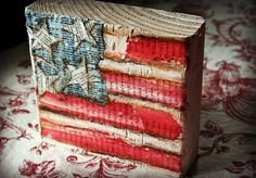 """while this is a great project to make, I really like this post b/c she shows you different ways to use products like, distress stain, distress markers, dictionary/book pages, mod podge, """"painting"""" with a baby wipe or dry brush, AND a cute way to use scraps of wood"""