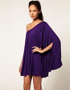 Purple Lipsy One Shoulder Dress