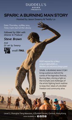 Spark: A Burning Man Story at Duddell's Library May 29