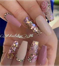 Amazing Wedding Nails Designs For Bride – Nail Art Connect – Fancy Nails Glam Nails, Toe Nails, Pink Nails, Glitter Nails, Cateye Nails, Red Nail, Pastel Nails, Nagel Bling, Bride Nails