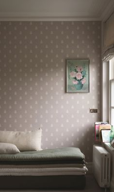 Farrow & Ball Bumblebee Wallpaper is a perfect way to add a pattern to your wall as Simplified Bee did in her living room