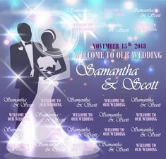 Wedding Step and Repeat Red Carpet Backdrop, Event Banner, Welcome To Our Wedding, Repeat, Templates, Stencils, Red Carpet Background, Vorlage, Models