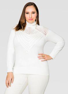 Embellished Turtleneck Sweater Embellished Turtleneck Sweater
