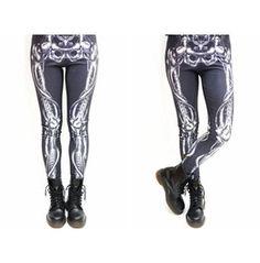 X Ray Skeleton Black Leggings