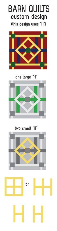 custom barn quilt design - design based on last name initial
