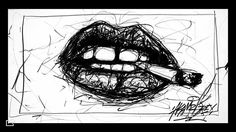 « #akamrgrey #andrieuxpierre #lips #smock #vinhashvin #love #bouche #draw #drawing #dtthgallery #weed #kiss #kisskissbangbang #sketch #minedeplombs… »