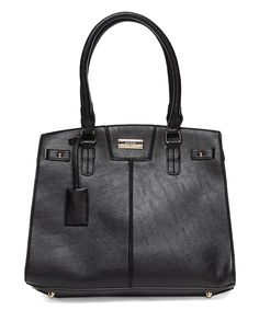 Another great find on #zulily! Black Chic Story Tote by BCBG Paris #zulilyfinds