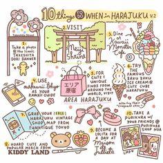 Take a picture at the iconic Takeshita Dori banner Visit Meiji Shrine & Meiji Jingu Dine at Kawaii Monster Cafe Harajuku Use OurKawaii.Tokyo as your kawaii guide Visit & Shop a… Go To Japan, Visit Japan, Japan Trip, Tokyo Trip, Okinawa Japan, Osaka Japan Things To Do, Japan Travel Guide, Tokyo Travel, Japan Guide