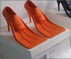 Scuba in style - Australian designer Lisa Carney designed these shoes - I don't get it