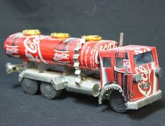 Coca-Cola Coke Tin Can Model Tanker Semi Truck Vietnam Vietnamese Language Print