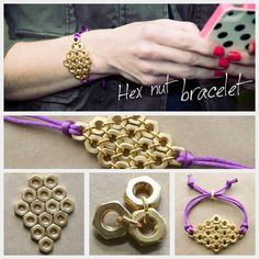 DIY | Hex Nut Bracelet