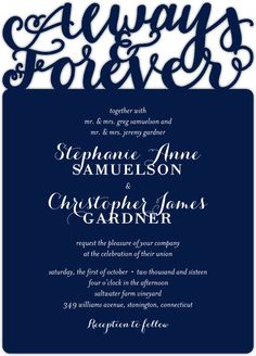 I'm starting to fall in love with laser cut invitations...