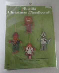 Dorothy Friends Wizard of Oz Ornament Kit Sealed by RetroExchange on Etsy