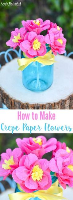 Learn how to make paper flowers with crepe paper rolls. A paper flower bouquet the perfect DIY to brighten up your space or to give as a thoughtful gift.