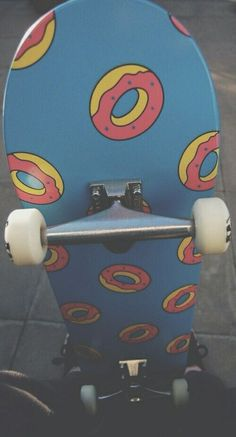 Golf Wang Skateboard with doughnuts Painted Skateboard, Skateboard Deck Art, Penny Skateboard, Skateboard Design, Skateboard Girl, Skate Girl, Cool Skateboards, Custom Skateboards, Odd Future