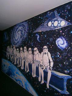 роспись стен звездные войны