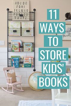 Kids' book storage ideas and hacks to calm the clutter and keep your kids' books organized! DIY kids book storage project ideas for walls, small spaces, bookshelves, baskets and bins. These kid book storage solutions can be used in the living room, b Book Storage Small Space, Small Space Bedroom, Kids Storage, Wall Storage, Basket Storage, Pantry Storage, Diy Childrens Storage, Children's Book Storage, Storage In Living Room