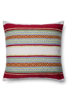LOLOI Indoor/Outdoor Embroidered Accent Pillow available at #Nordstrom