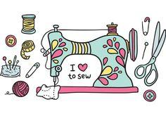 Vendimia vector máquina de coser gratuito - Descargue arte ...