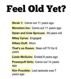 This makes me feel so old...