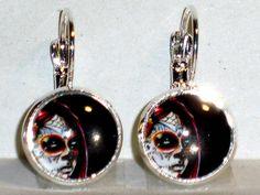 Ohrringe Totenkopf Ohrschmuck Modeschmuck Legierung ohne Stein Glas Cabochon