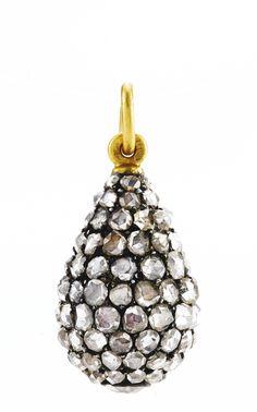 A Fabergé jeweled egg pendant, workmaster Michael Perchin, St. Petersburg, circa 1890