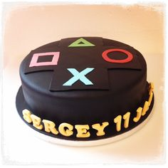 PlayStation controller button cake