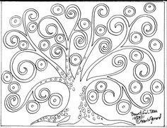 Rug Hook Crafts Paper Pattern Bountiful Tree Folk Art Abstract Primitive Karla G | eBay