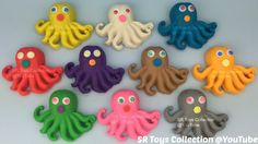 Play and Learn Colours with Play Doh Octopus with Molds Fun & Creative f...