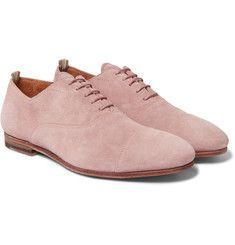Officine Creative - Cap-Toe Suede Derby Shoes